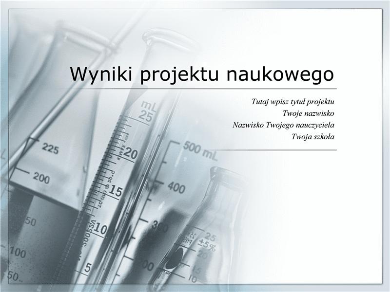 Prezentacja wyników projektu naukowego