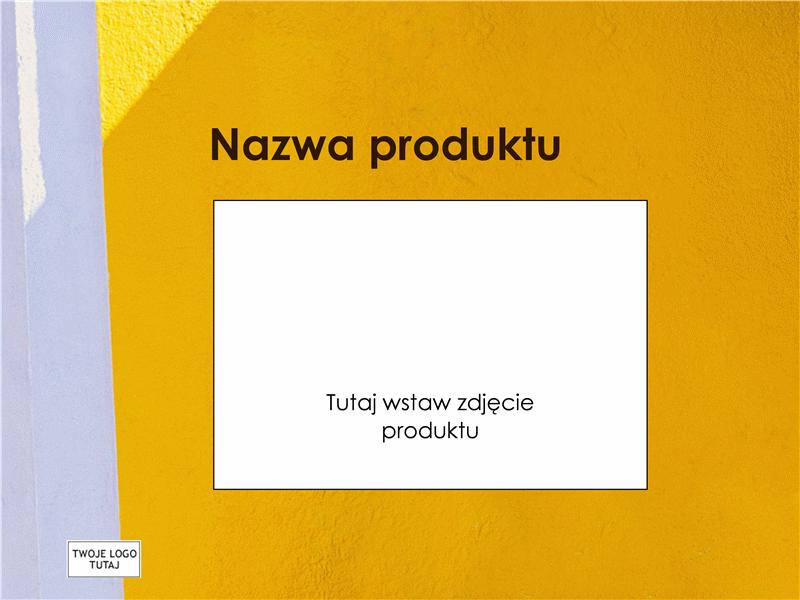 Prezentacja z omówieniem produktu