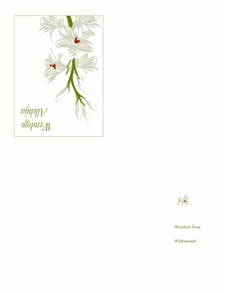 Kartka wielkanocna (z kwiatami)
