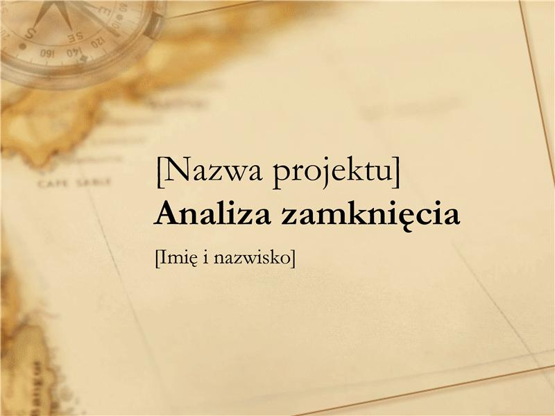 Prezentacja analizy po zakończeniu projektu