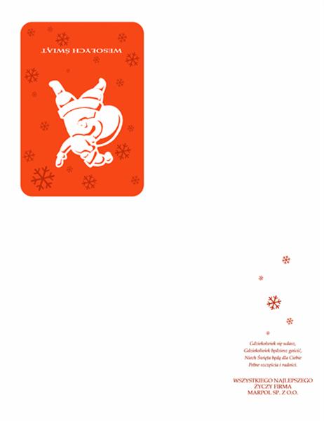 Karta świąteczna (ze Świętym Mikołajem)