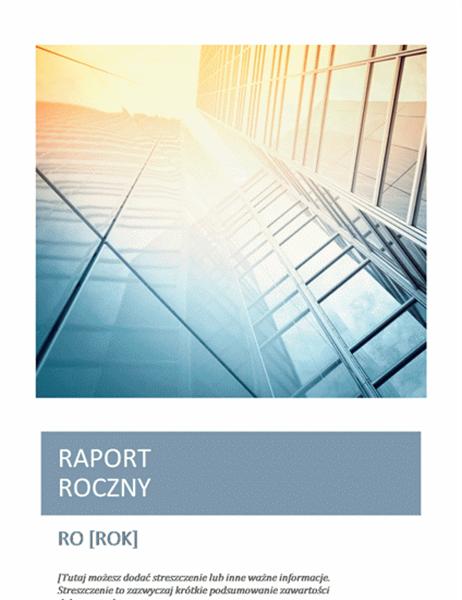 Raport roczny z fotografią na okładce