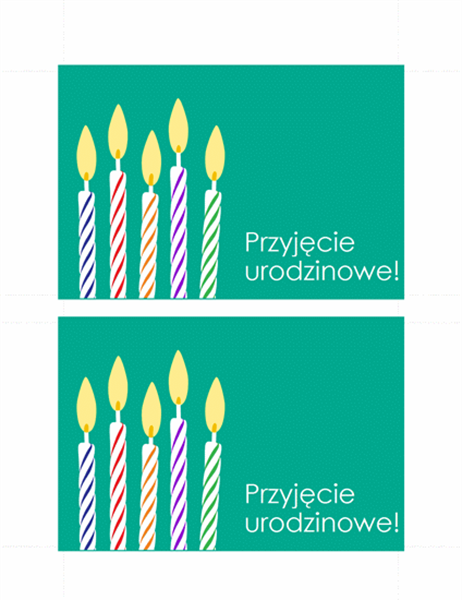 Pocztówkowe zaproszenie na urodziny