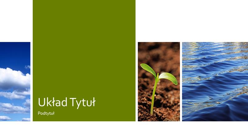 Prezentacja z motywem natury zawierająca zdjęcia przedstawiające edukację ekologiczną
