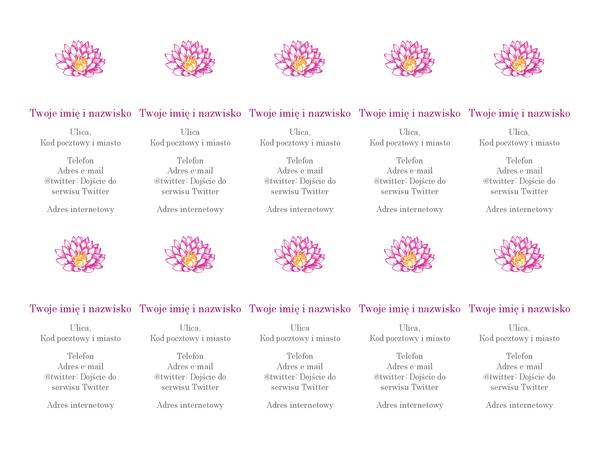 Osobiste wizytówki z kwiatami (układ pionowy)