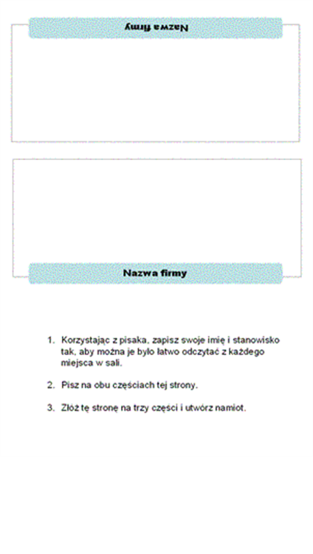 Wizytówki (3-szpaltowe)