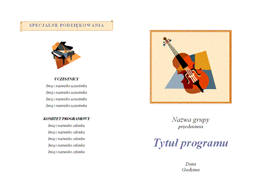 Program wydarzenia muzycznego