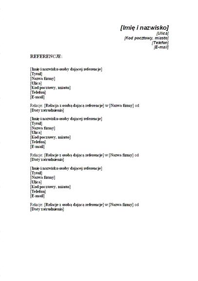 Lista referencji