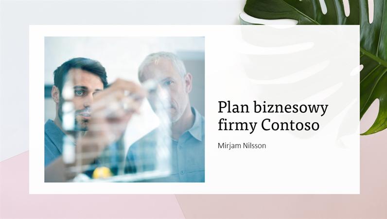 Prezentacja planu biznesowego