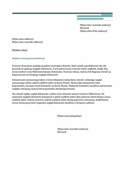 List (projekt Wielkomiejski)