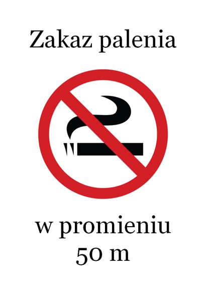 Znak Zakaz palenia (kolorowy)