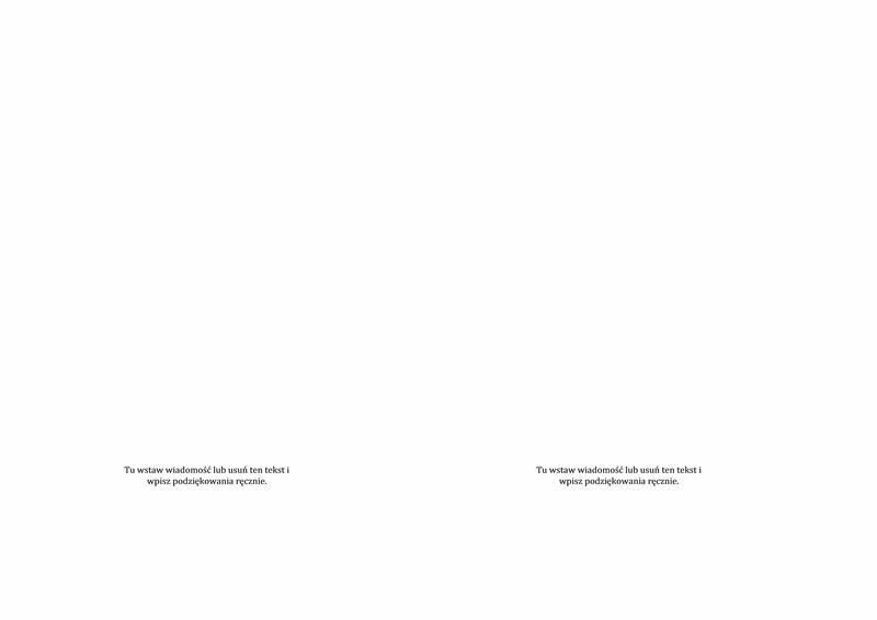 Wręczenie dyplomów — kartka z podziękowaniami (projekt oficjalny)