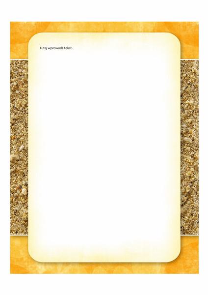 Papeteria (motyw Słońce i piasek)