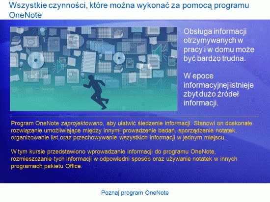 Prezentacja szkoleniowa: Poznaj program OneNote 2007