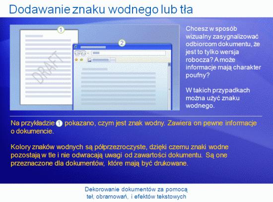 Prezentacja szkoleniowa: Word 2007 — ozdabianie dokumentów tłami, obramowaniami i efektami tekstowymi
