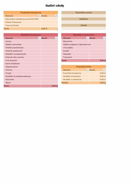 Budżet szkoły