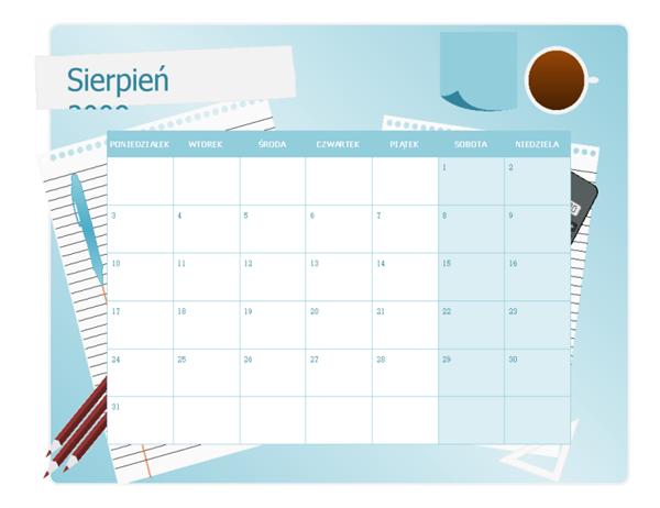 Kalendarz akademicki 2009/2010 (sierp.–sierp., pon.-niedz.)
