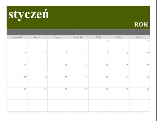 Kalendarz z banerem