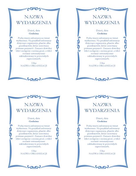 Ulotka z zaproszeniem na wydarzenie (4 pionowe)