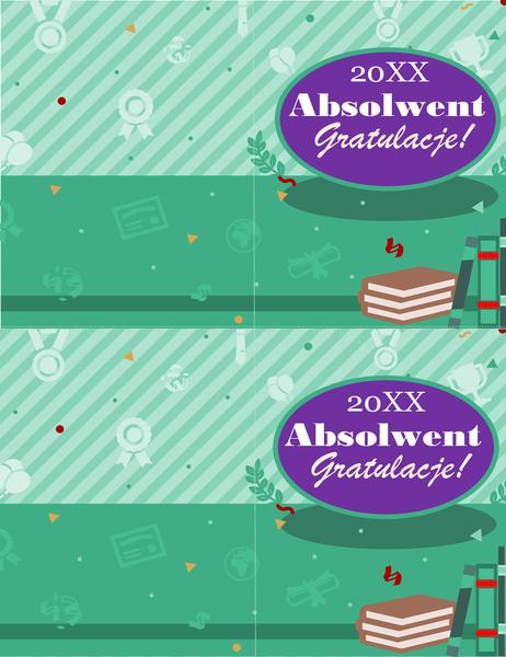 Kartka z okazji ukończenia szkoły (2 na stronę)