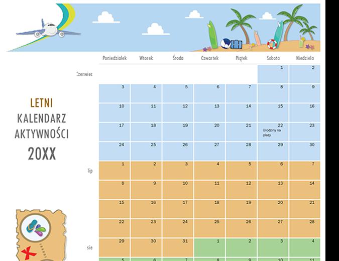 Kalendarz aktywności letniej