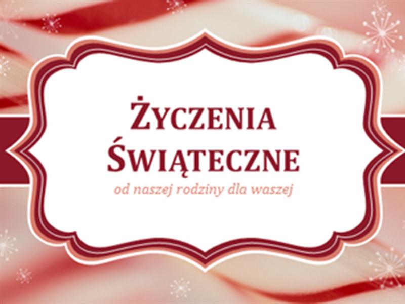Kartki świąteczne z wzorem laski cukrowej (2 na stronę)