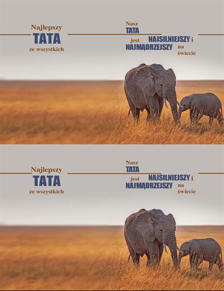 Karta z okazji Dnia Ojca z mądrym słoniem