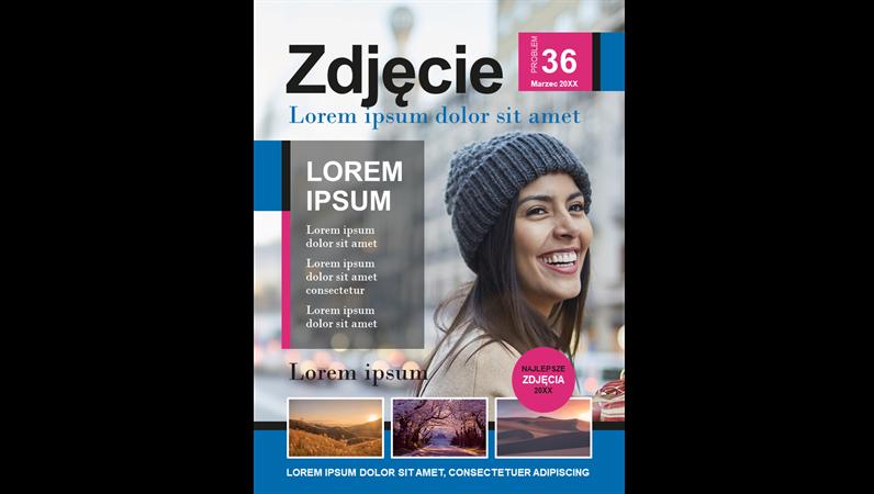 Okładka magazynu fotograficznego