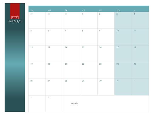 Kalendarz na dowolny rok