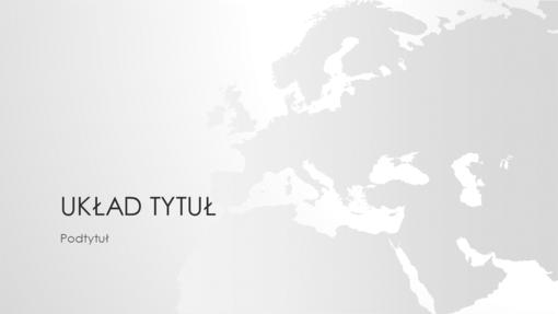 Seria map świata, prezentacja Europa (panoramiczna)