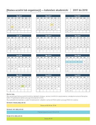 Kalendarz akademicki 2017–2018