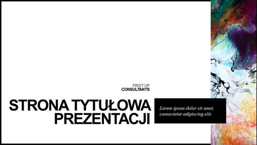 Minimalistyczna, kolorowa prezentacja
