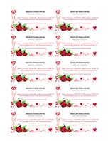 Wizytówki (biedronki i serca, wyśrodkowane, 10 na stronie)