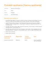 Protokół spotkania (motyw Pomarańczowy)