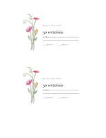 Karty potwierdzenia obecności (projekt Akwarela)