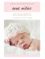 Zawiadomienie o narodzinach dziewczynki