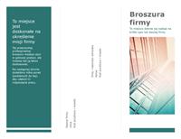 Trzyszpaltowa broszura (niebieski)