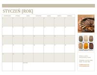 Kalendarz z fotografiami (miesięczny)