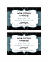 Zaproszenie na przyjęcie (niebieska wstążka)