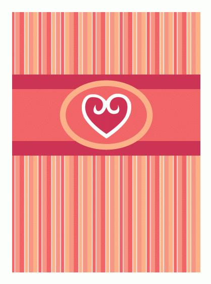 Kartka miłosna (czerwona)