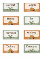 Karty z oznaczeniem miejsca (motyw Żniwa)