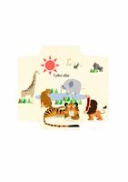 Koperta na pieniądze (wzór z afrykańskimi zwierzętami)