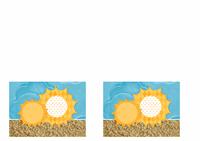 Zaproszenie (motyw Słońce i piasek)