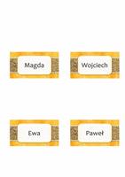 Kartki z imieniem lub miejscem (motyw Słońce i piasek, styl zginany)