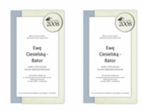 Zawiadomienie o uroczystości wręczenia dyplomów (projekt z teksturami)