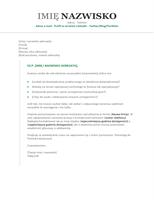 List motywacyjny do życiorysu (chronologiczny)
