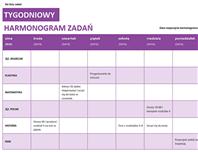 Tygodniowa lista zadań