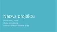 Prezentacja projektu grupy (motywy Wielkomiejski, panoramiczny)