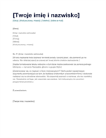 List motywacyjny — projekt Prosty
