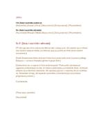 Formalny list biznesowy